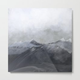 happy in the mountains Metal Print