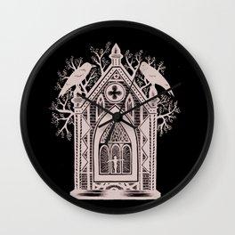 Ravens Behold Wall Clock