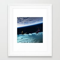 skiing Framed Art Prints featuring Skiing by Cs025