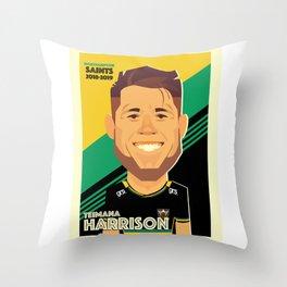 Teimana Harrison - Northampton Saints Throw Pillow