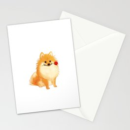 Charming Pomeranian Stationery Cards