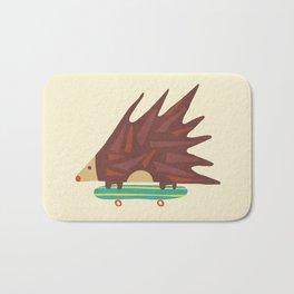 Hedgehog in hair raising speed Bath Mat