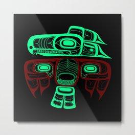 Native American style Tlingit Thunderbird Metal Print
