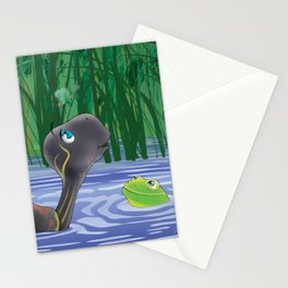 Dragonfly, Turtle And Frog Stationery Cards