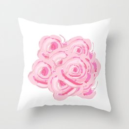 Boca Roses Throw Pillow