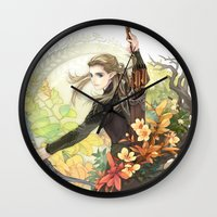 legolas Wall Clocks featuring Legolas by kagalin