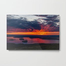 sunrise on cadillac mountain, acadia national park Metal Print