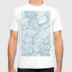 blue organic ornament  Mens Fitted Tee MEDIUM White