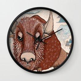 American Buffalo Bison Southwest Southwestern Wall Clock