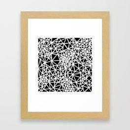 Glass Jewerly in black Framed Art Print
