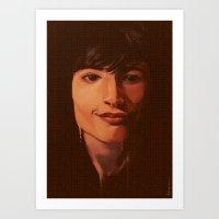 ezra koenig Art Prints featuring Ezra by bmworks