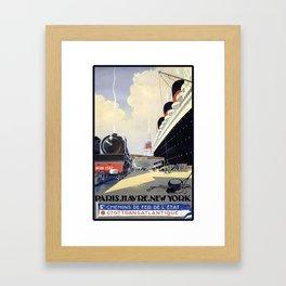 PARIS HAVRE NEW YORK Framed Art Print