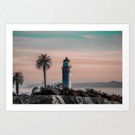 light at dusk Art Print
