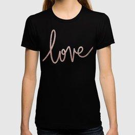 rose gold love print T-shirt
