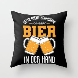 Funny German Quote Beer Garden Hipster Party Prost Throw Pillow