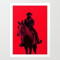 django Art Prints featuring Django by MattGoughDesign