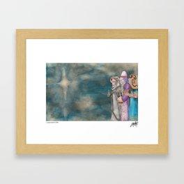 Michael's First Christmas, Three Wise Men Framed Art Print