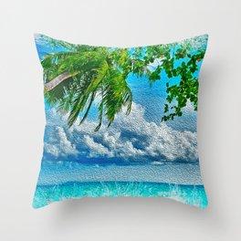My tropical Heaven Throw Pillow