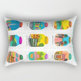 Travel with Colors Rectangular Pillow