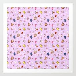 cardcaptor sakura cute pattern lilac Art Print