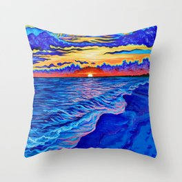 Panama City Beach, FL Throw Pillow