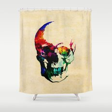 I live inside your face Shower Curtain