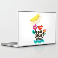 bonjour Laptop & iPad Skins featuring Bonjour! by Daily Thoughts