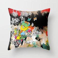 happy world Throw Pillow