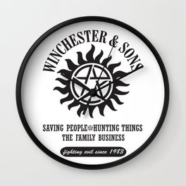 SUPERNATURAL WINCHESTER AND SONS Wall Clock