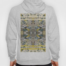 Passion Flower Baroque in Gold Yellow Grey Hoody