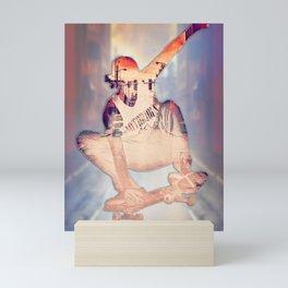 The Skateboarder Mini Art Print