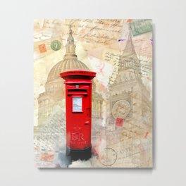 Classic Red London Postbox Metal Print