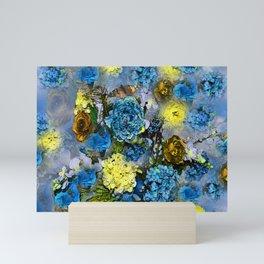 HYDRANGEA AND ROSES Mini Art Print