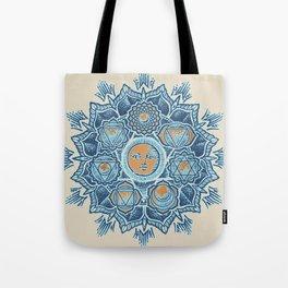 Alyson Anahata Seven Chakra Sun Flower Mandala 1 Tote Bag
