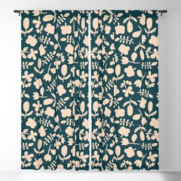 Floral Vase | Blue, Red, + Peach Blackout Curtain