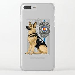 K9 Unit Flag COLORADO copy Clear iPhone Case
