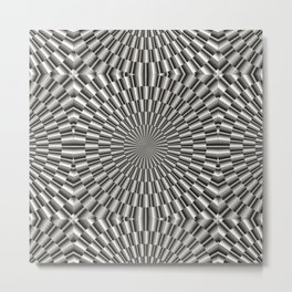 High tech silver metal surface Metal Print