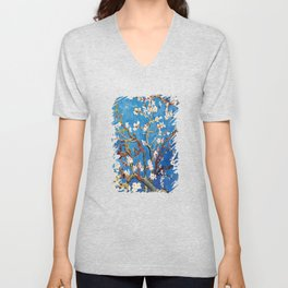 Van Gogh Branches of an Almond Tree in Blossom Unisex V-Neck