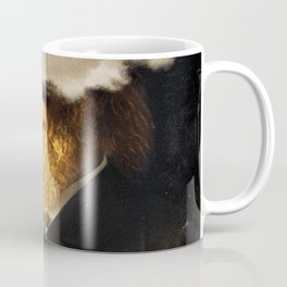 The inability of men with golden faces to be photographed without cloud. Coffee Mug