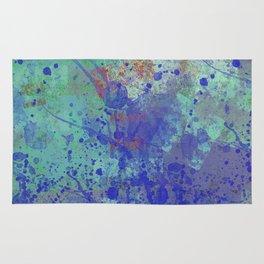Paint Splatter Abstract Rug
