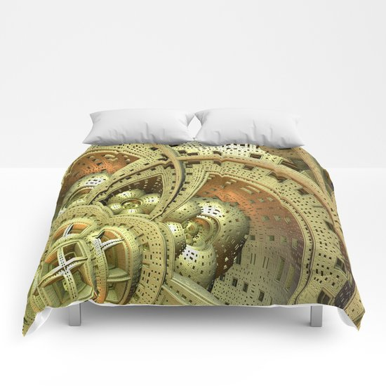 Industrial Steam Punk Cogwheels Comforters