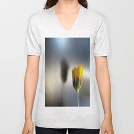 yellow flower Unisex V-Neck