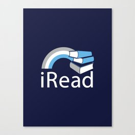 i Read | Book Nerd Slogan Canvas Print
