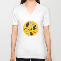sport V-neck T-shirts featuring Sport equipment by Irmirx