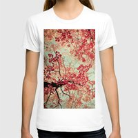 leaves T-shirts featuring Autumn Inkblot by Olivia Joy StClaire