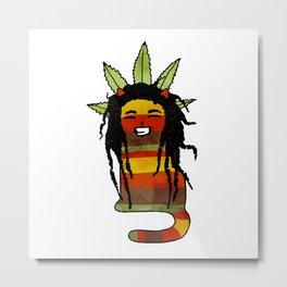 Murley – Jamaican Rasta Cat Metal Print