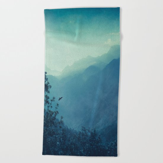 mountain blues Beach Towel