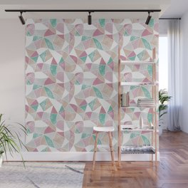 Abstract graphic pattern. Fun triangles. Wall Mural