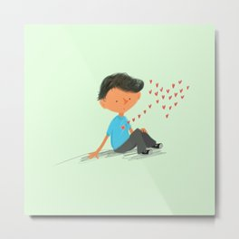 Boy in Love Metal Print