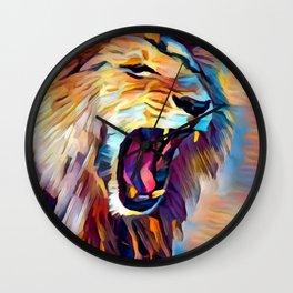 Lion 5 Wall Clock